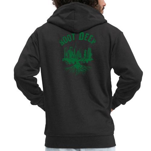 Root deep Urban grün - Männer Premium Kapuzenjacke