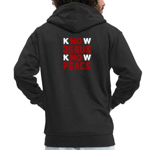 Know Jesus Know Peace (Flower Design) - Männer Premium Kapuzenjacke