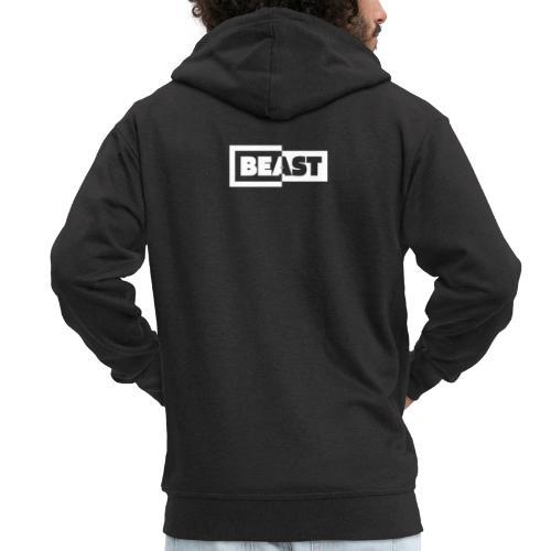 00383 Beast blanco negro - Chaqueta con capucha premium hombre