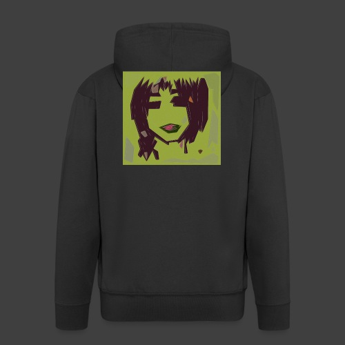 Green brown girl - Men's Premium Hooded Jacket