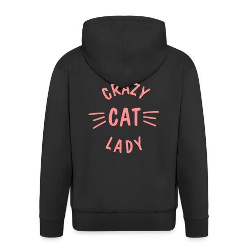 Vorschau: Crazy Cat Lady meow - Männer Premium Kapuzenjacke