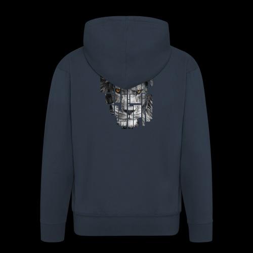Pixel Lion Tattoo Inspire - Men's Premium Hooded Jacket
