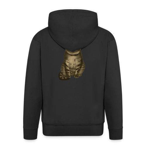 Domestic Brown Tabby Cat - Mannenjack Premium met capuchon