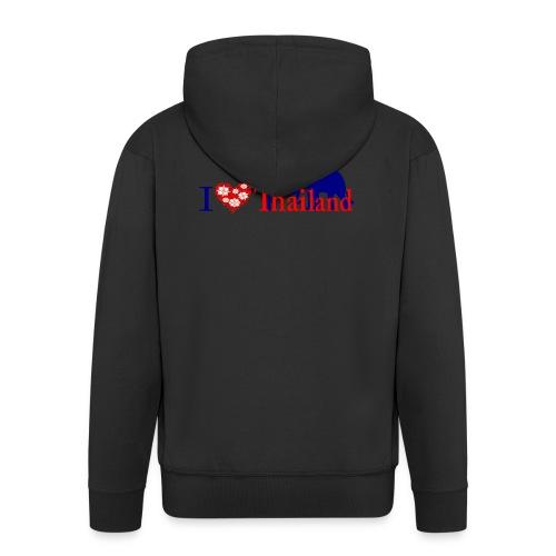 I love Thailand - Men's Premium Hooded Jacket