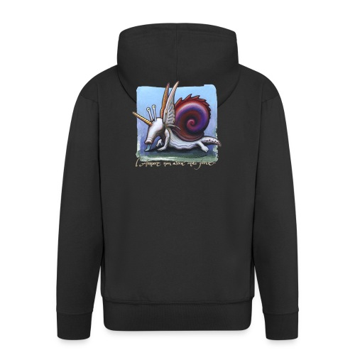 Unichiocciolo - Felpa con zip Premium da uomo