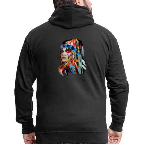 Pióra i pióropusze - Rozpinana bluza męska z kapturem Premium