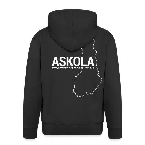 Kotiseutupaita - Askola - Miesten premium vetoketjullinen huppari