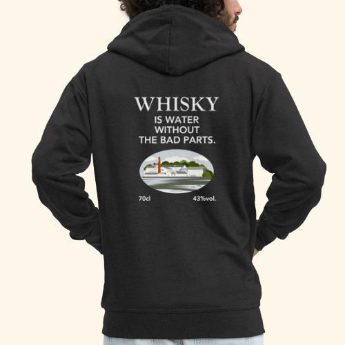 Whisky Is Water lustiger Spruch und Brennerei - Männer Premium Kapuzenjacke