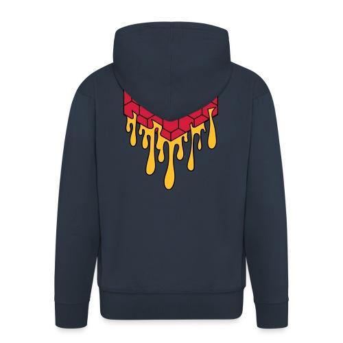 Honey heart cuore miele radeo - Felpa con zip Premium da uomo