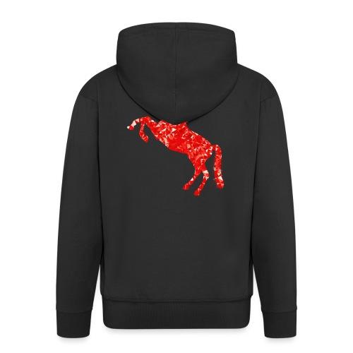 unicorn red - Rozpinana bluza męska z kapturem Premium