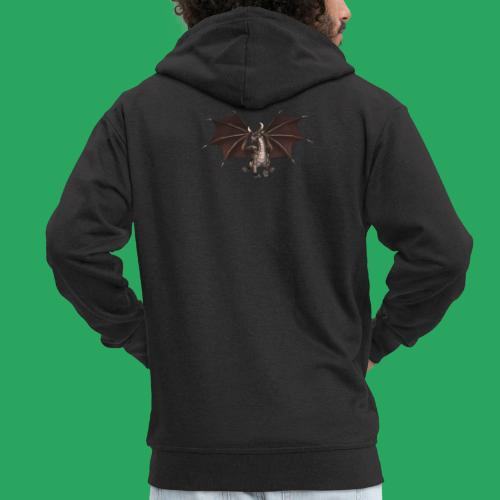 dragon logo color - Felpa con zip Premium da uomo