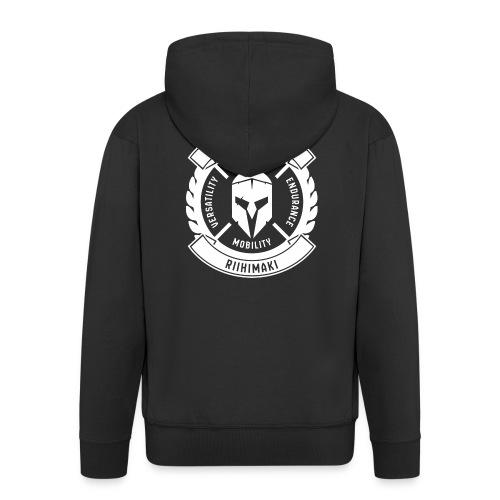 Legion Gym Riihimäki - Miesten premium vetoketjullinen huppari