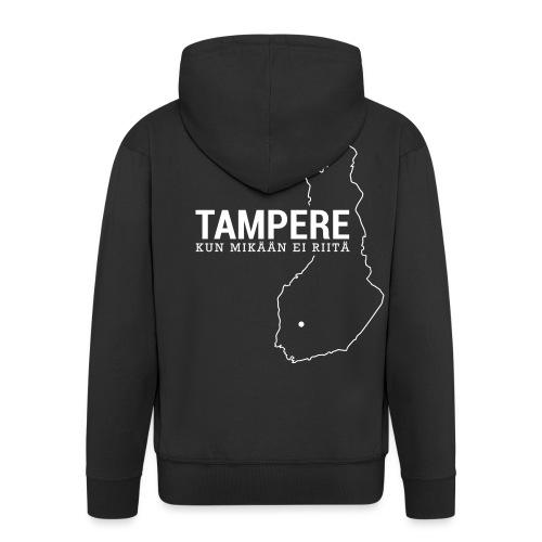 Kotiseutupaita - Tampere - Miesten premium vetoketjullinen huppari