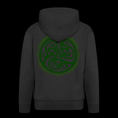 Green Celtic Triknot - Men's Premium Hooded Jacket