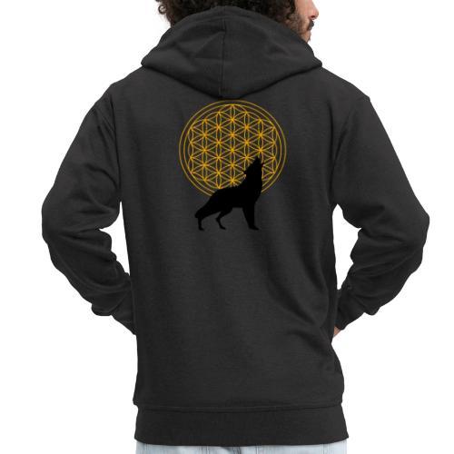 fleur de vie loup n°2 - Veste à capuche Premium Homme