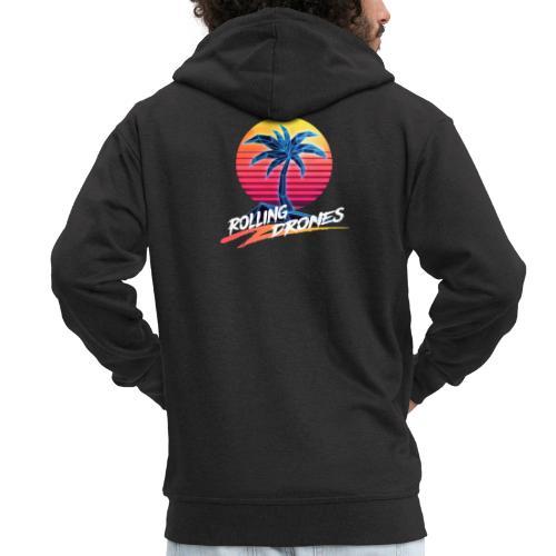 RD Logo Transparent - Men's Premium Hooded Jacket