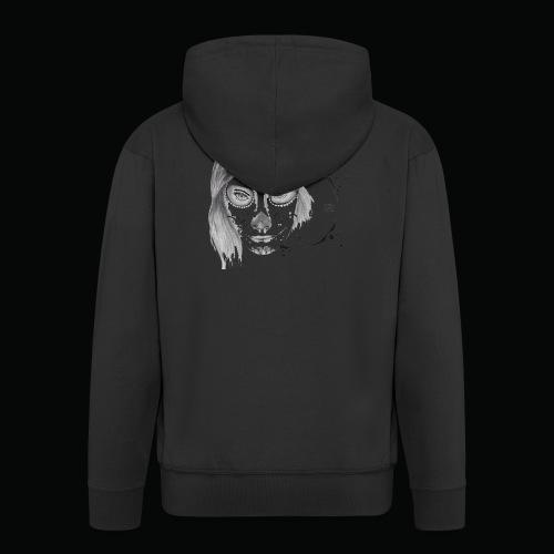 Santa Muerte - Felpa con zip Premium da uomo