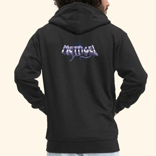 Mettigel T Shirt Design Heavy Metal Schriftzug - Männer Premium Kapuzenjacke