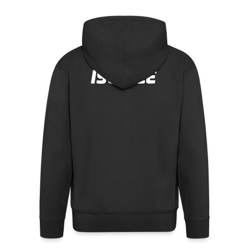 Iso Dee, valkoinen teksti - Miesten premium vetoketjullinen huppari
