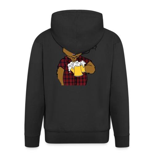 Beer and Bear - Veste à capuche Premium Homme