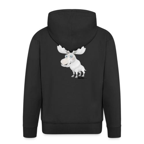 Albino elg - Premium Hettejakke for menn