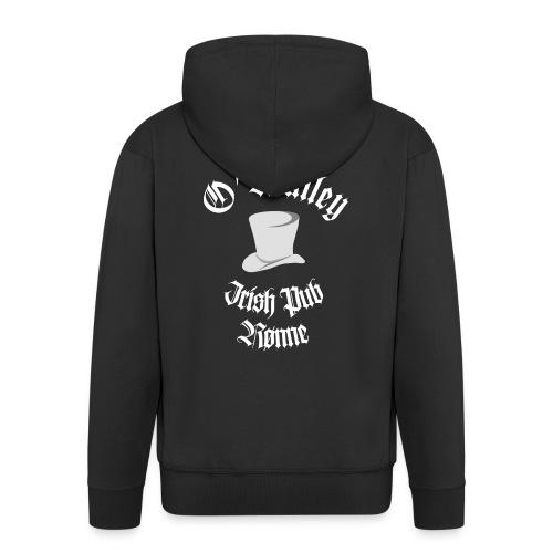 O'Malley Logo bw - Herre premium hættejakke