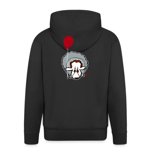 Evil Clown Sheep from IT - Felpa con zip Premium da uomo