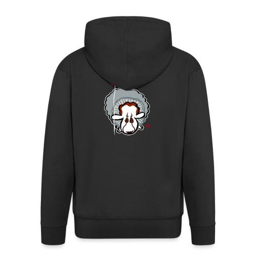 Evil Clown Sheep from IT - Rozpinana bluza męska z kapturem Premium
