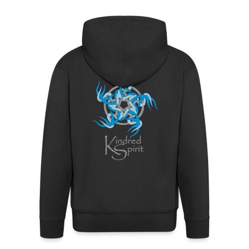 Kindred Spirit Symbol with Words - Men's Premium Hooded Jacket