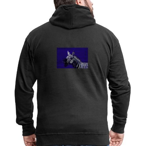 blue zebra - Men's Premium Hooded Jacket