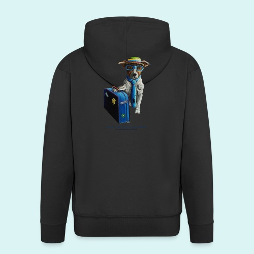 The Traveling Dog - Men's Premium Hooded Jacket