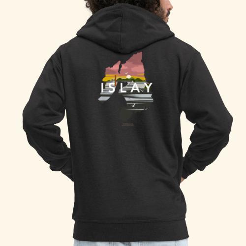 Islay Dusk Whisky T-Shirt Design - Männer Premium Kapuzenjacke