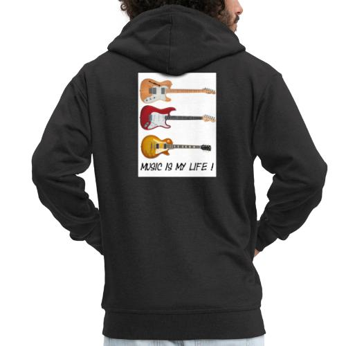 Music is my life! - Premium Hettejakke for menn