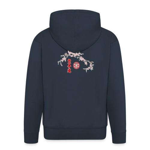 Branche cerisier gif - Veste à capuche Premium Homme