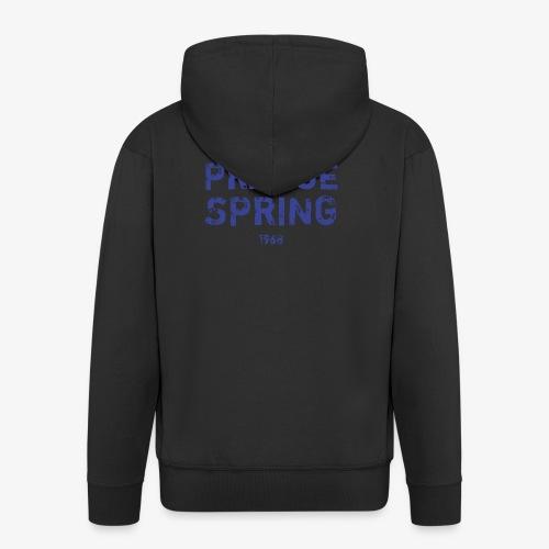 Prague Spring - Felpa con zip Premium da uomo