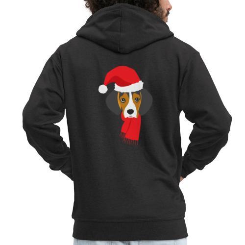 Cachorro de beagle vestido de Papa Noel - Chaqueta con capucha premium hombre