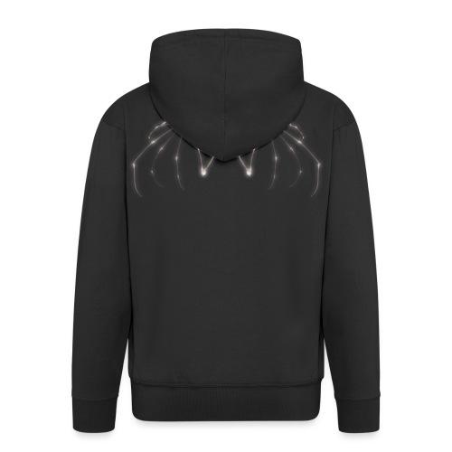 Skeleton Wings - Men's Premium Hooded Jacket