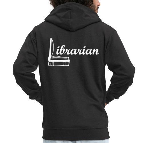 0325 Librarian Librarian Cool design - Men's Premium Hooded Jacket