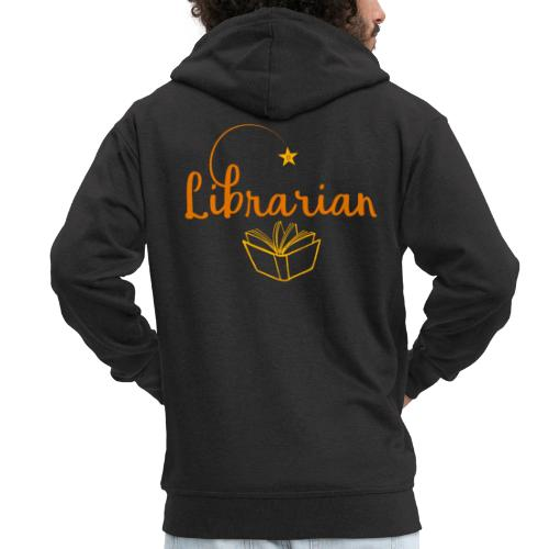 0327 Librarian Librarian Library Book - Men's Premium Hooded Jacket