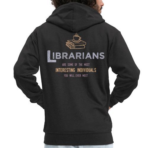 0336 Librarian & Librarian Funny saying - Men's Premium Hooded Jacket