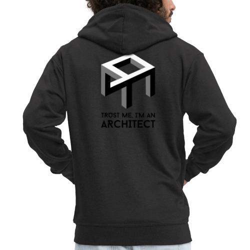 Trust me, I'm an Architect - Miesten premium vetoketjullinen huppari