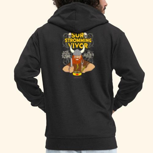 Survivor Wikinger   Surströmming T-Shirts - Männer Premium Kapuzenjacke