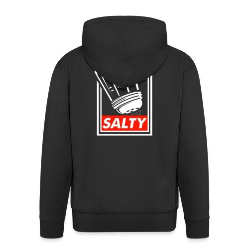Salty white - Men's Premium Hooded Jacket