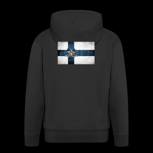 Suomen lippu - Miesten premium vetoketjullinen huppari