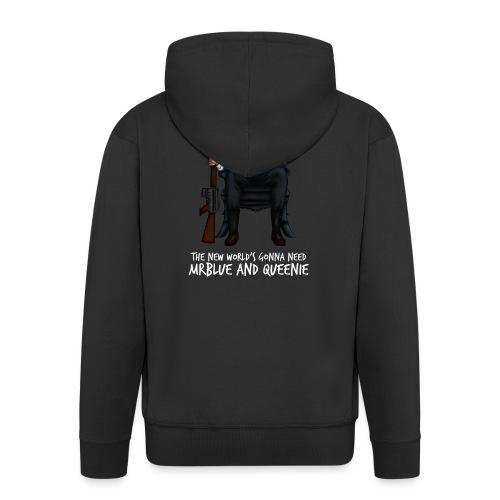 MrBlue's New World - Men's Premium Hooded Jacket