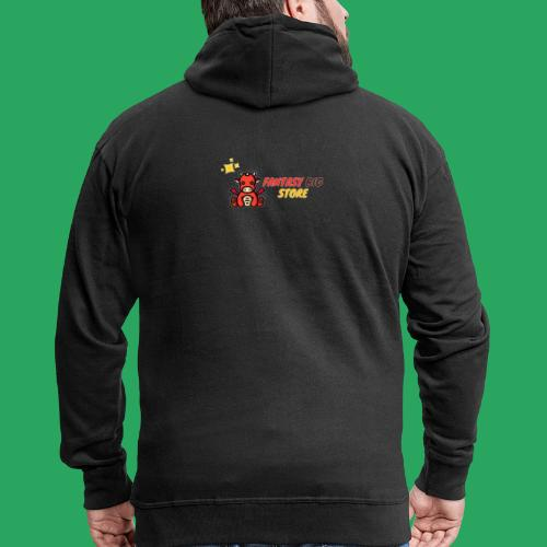 Fantasy big store - Felpa con zip Premium da uomo