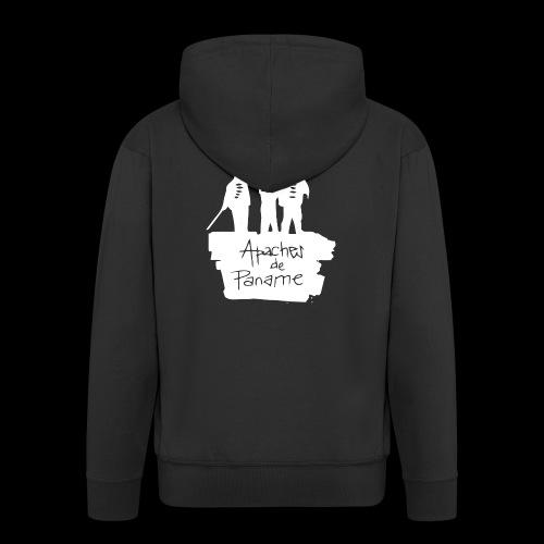 logo apache blanc - Veste à capuche Premium Homme