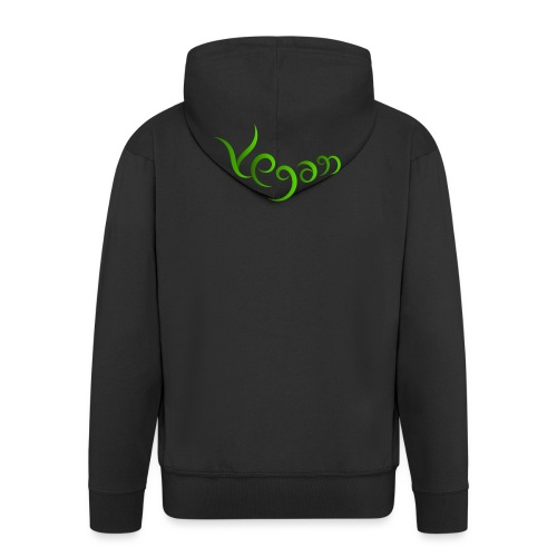 Vegaani käsinkirjoitettu design - Miesten premium vetoketjullinen huppari