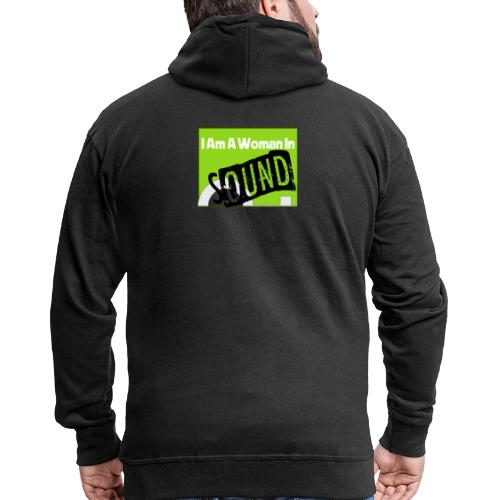 I am a woman in sound - Men's Premium Hooded Jacket