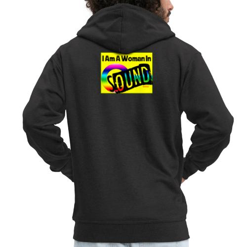 I am a woman in sound - rainbow - Men's Premium Hooded Jacket